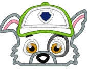 5x7 RECYCLING GREEN paw patrol dog head
