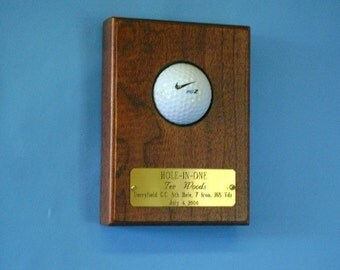 """Cherry  """"Hole-in-One"""" Golf Ball Wall Display"""