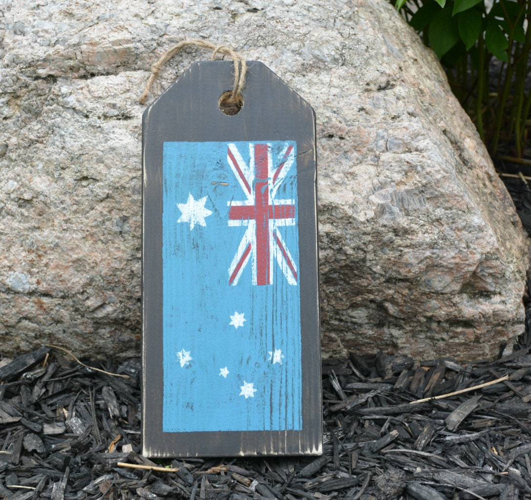 1025 #247AA7 Australian Flag. Front Door Sign. Rustic By MoonenDavisdeSIGN pic Front Doors Australia 41811087