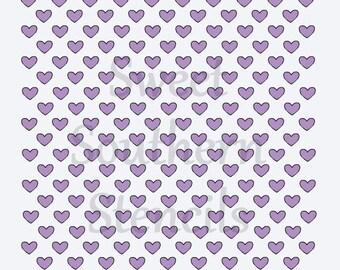 Tiny Hearts Stencil