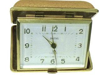 Vintage Smiths Travel Alarm Clock Mechanical Germany