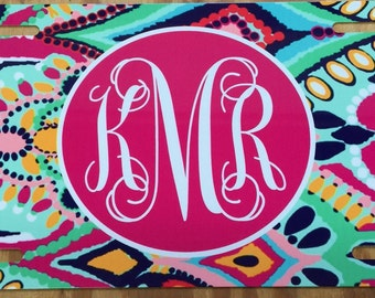 Lilly pulitzer jewels monogrammed License plate personalized car tag jewels design