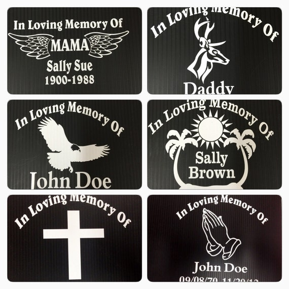 In Memory Of Decals Car Stickers Window Decal Cross Praying - Window decals in memory of