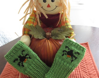 Childrens Hallowe'en fingerless gloves,mittens