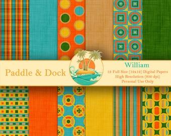 Digital Scrapbook Paper - William
