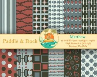 Digital Scrapbook Paper - Matthew