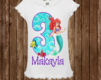 Little Mermaid Birthday Shirt - Ariel Shirt - Little Mermaid Shirt
