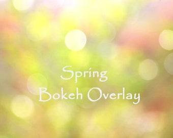 Spring Overlay, Easter Overlay, Bokeh Overlay, Yellow Bokeh
