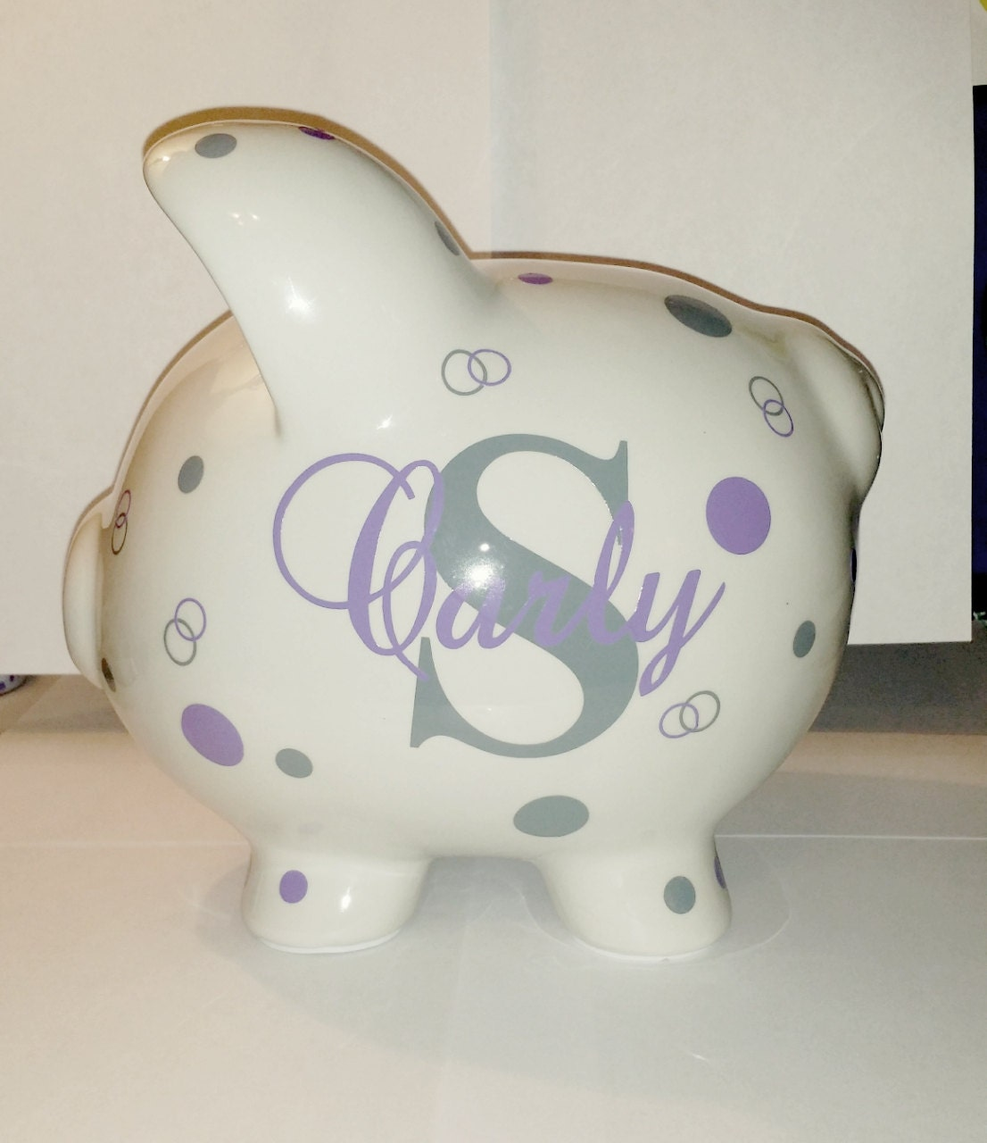personalized piggy bank by nickinicoles on etsy