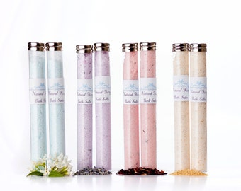 Natural Bath Salts (pack of 4) Bath Gift Set Bridal Shower Favors/ Bath Soak