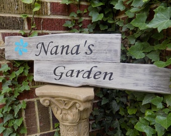 Garden Sign, Reclaimed Distressed Wooden Nana's Garden Sign, distressed sign, rustic sign