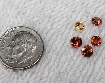 Mixed lot faceted amber quartz and mandarin citrine