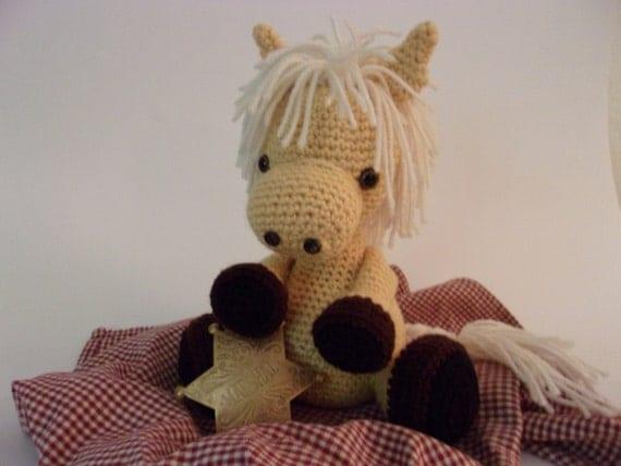 Amigurumi Year Of The Horse : horse pony crochet palomino horse year of the horse amigurumi