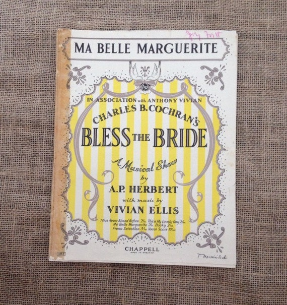 sale was 4 vintage sheet music ma belle marguerite from bless. Black Bedroom Furniture Sets. Home Design Ideas