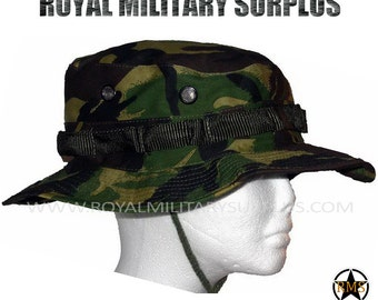 Boonie Hat - Summer/Sun Camo Hat - UK British Army Military Forces Disruptive Camouflage Pattern - Airsoft & Paintball - DPM (Woodland)
