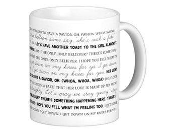 Coffee Mug Girl Almighty Lyrics Mug - One Direction