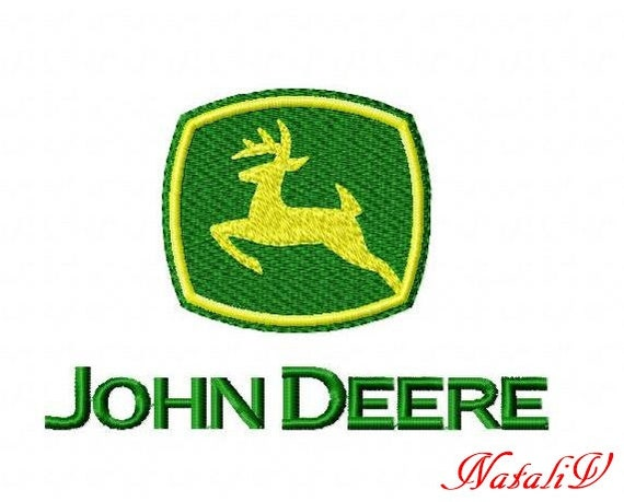 John Deere Emblem Embroidery Designs : Machine embroidery design instant download john by natalivemb