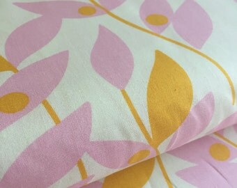 Lindy Leaf Tangerine Heather Bailey Nicey Jane Fabric