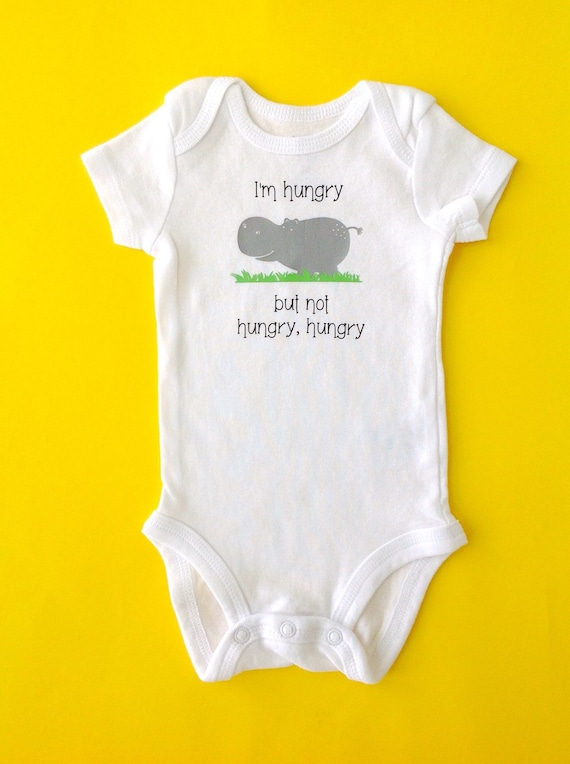Gender Neutral Baby Clothes Hungry Hungry Hippo by tnyDesigns