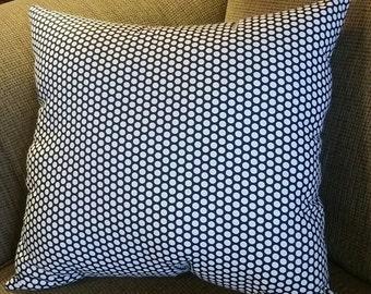 "19"" x 21"" Black and White Polka Dot Decorative Stuffed Pillow"