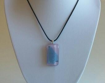 Lavender Frost Glass Pendant