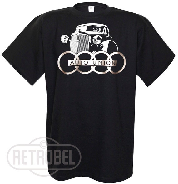 Used Audi In Chicago: T-Shirt AUTO UNION Black AUDI Classic Car Retro 100% By