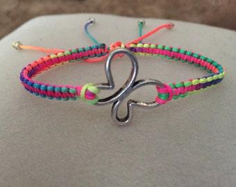 Butterfly Adjustable Braided Bracelet