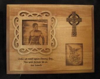 Laser Engraved Memorial Plaque, Memorial Gift,