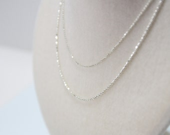 Sterling silver 1.2 CT chain - Cutting ball small size