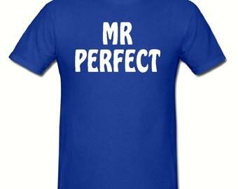 Mr perfect t shirt,mens t shirt sizes small- 2xl, gift,dad gift,super hero t shirt