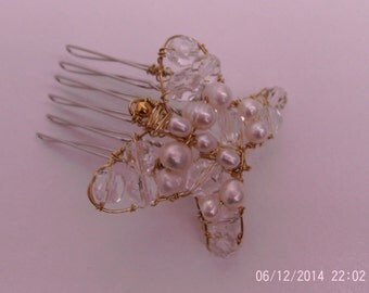 Hand made butterfly hair comb