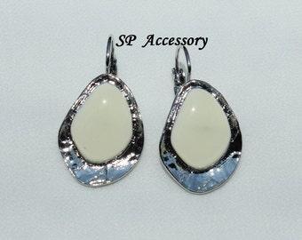Teardrop Earrings, colorful earrings, stainless steel earrings, jewelry earrings