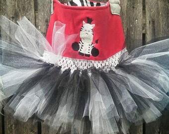 zebra tutu purse