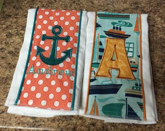 Set of 2 Custom Burp Cloths