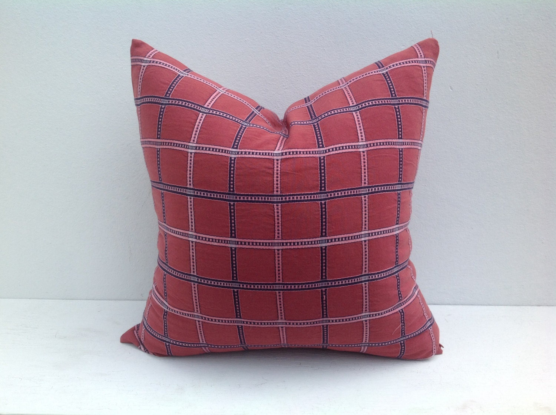 Red Pillow Plaid Throw Pillows Tartan by PillowAtHome on Etsy
