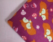 Baby Blanket Handmade Fox Print Flannel Personalized Blanket Baby Shower Gift Stroller Blanket