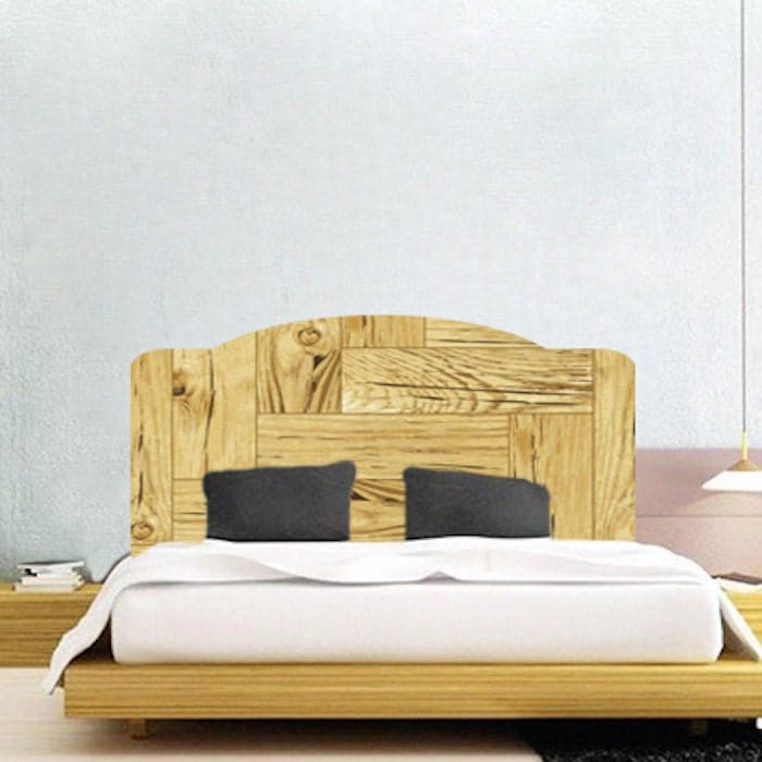 Bedroom headboard decals modern headboards for beds bedroom for Mural headboard