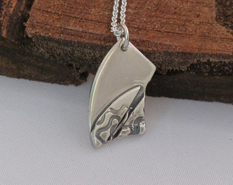 Delicate sterling silver necklace.