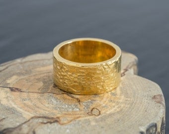 English Gold and 18ct EcoGold Industrial Wedding Ring