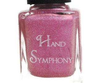 NETTIE-Pink Nail Polish By Hand Symphony:Holographic Pink Nail Polish,Violet Nail Polish,5 Free Polish,Glitter Nail Polish,Neon Polish