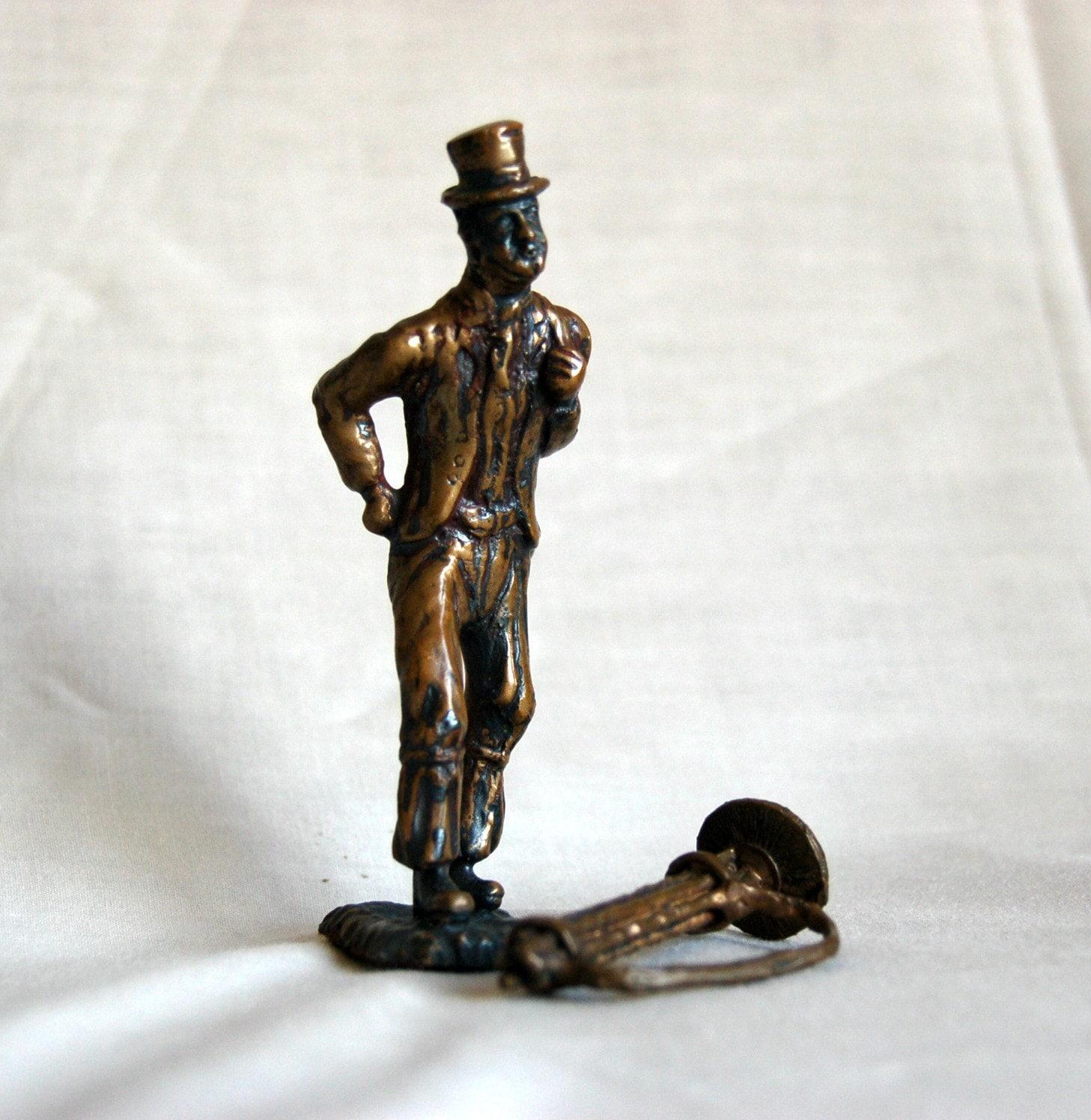 Chimney Sweep Metal Figurine Metal Sculpture Retro Home
