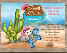 Sheriff Callie Birthday Invitation   Sheriff Callie Invitation   Printable Digital File   DIY Print   INSTANT DOWNLOAD   MicroSoft Word