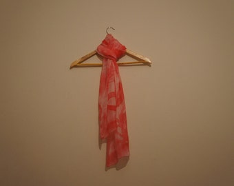 Cherry silk scarve hand painted