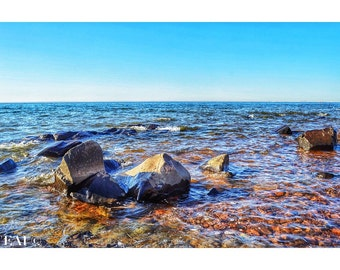 Unforgiving Shore/Lake Superior/Duluth/waves crashing/shore/lakes/north shore/great lakes/zen/wall art/rocks/sculpture/nature photography