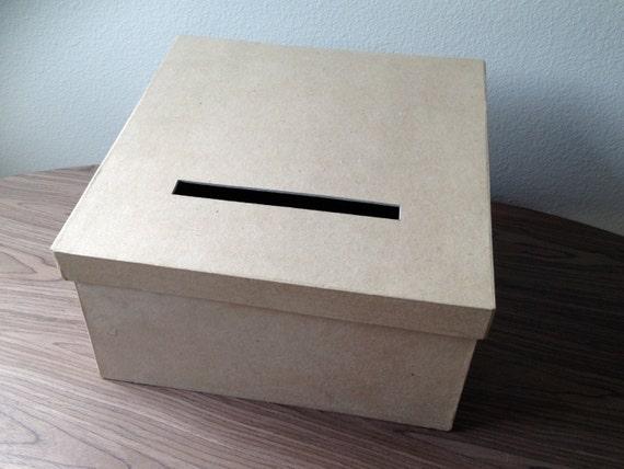 DIY Card Box Rustic Card Box Wedding Card Box By TheColorHolic