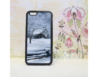 Winter Cabin - Rubber iPhone Case