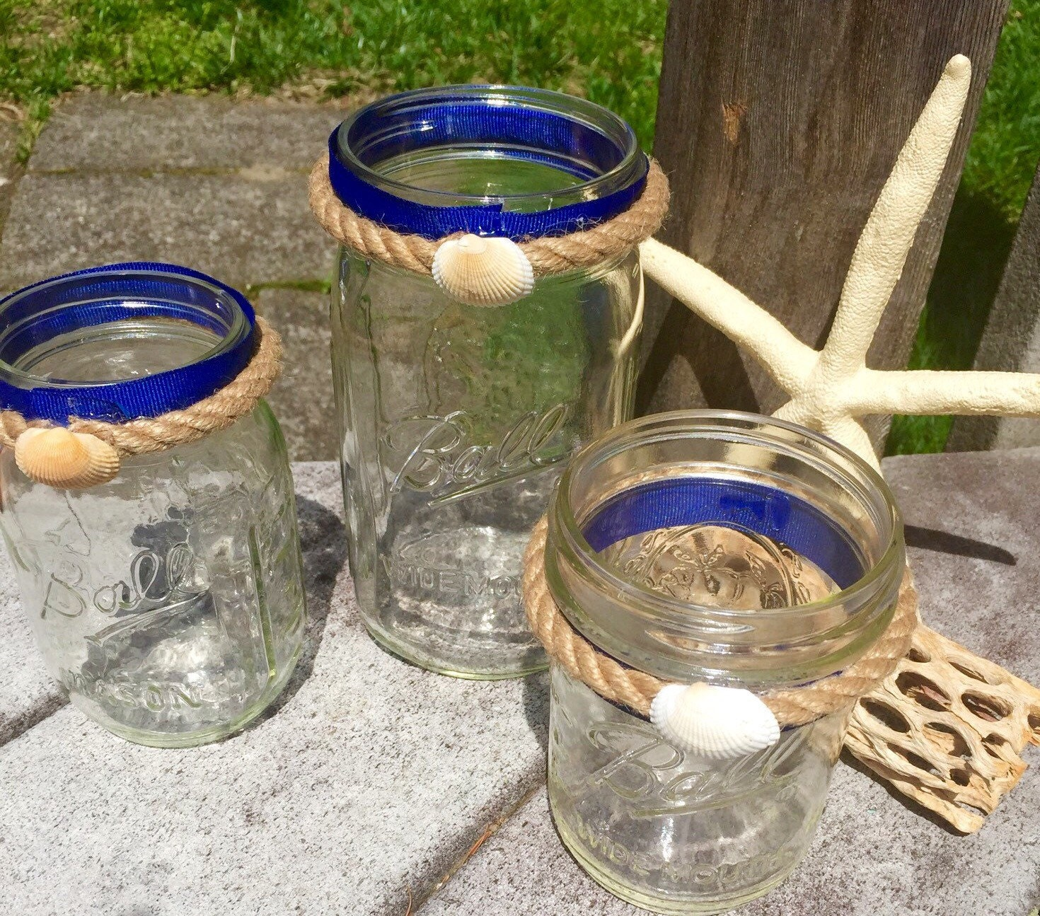 Beach Wedding Ideas Mason Jars: Mason Jars-nautical Decor-wedding Decor-beach