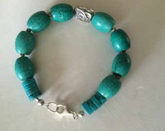 Turquoise, Sterling Silver Bracelet