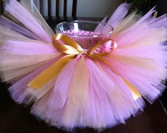 Princess tutu, pink, gold, pink gold tutu, bow tutu, Birthday tutu, tutu, photo prop, baby tutu, toddler tutu, girl tutu