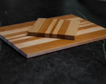 Maple and Cherry Slim Cutting Board set